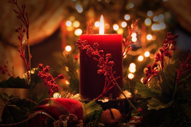 vánoční svíčka