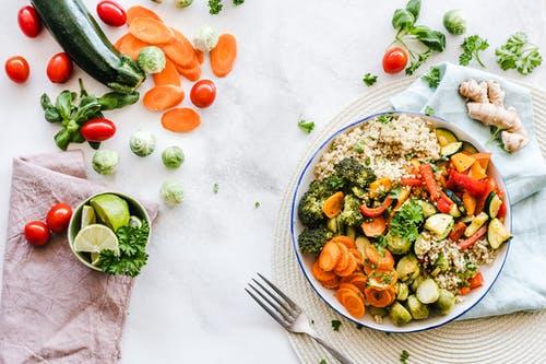 zelenina v talířku